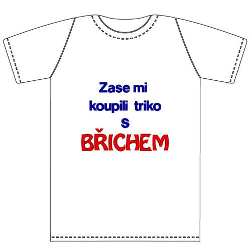 ff7f7775287c Ptákoviny - Tričko pro dospělé s vtipným nápisem Zase mi koupili triko s  břichem